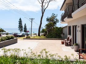 Metres from Mollymook Beach, location