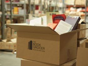 A Book Grocer Box at our warehouse