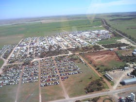 Aerial view of Field Days event