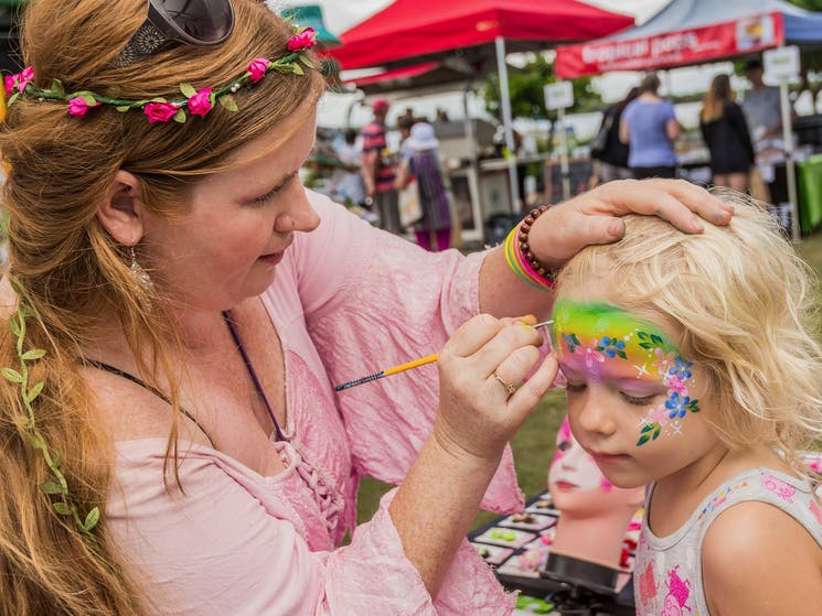 Yamba River Markets face painting