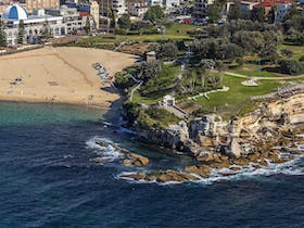 Aerial view of Coogee Beach and Giles Baths