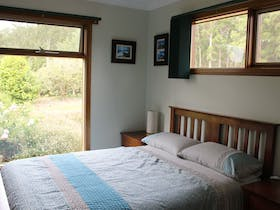 Double room looks out over NE gardens