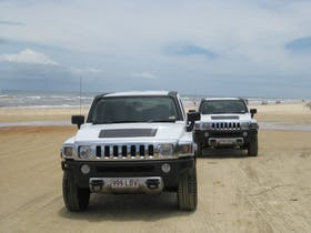 Hummers on tour, another fantastic day on Fraser Island