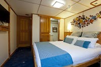 Large, comfortable cabins with private bathroom