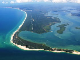 Arial Shot of Inskip Point