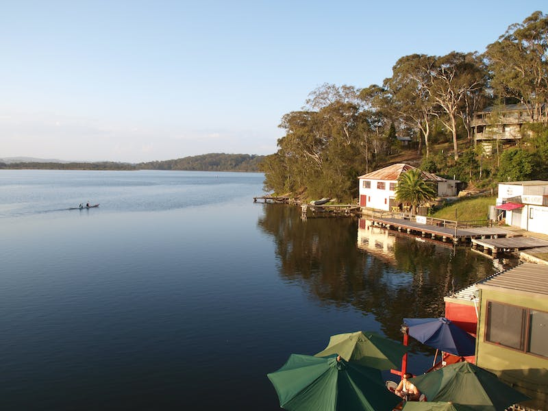 Boatshed and Cafe's on the water at Tuross Head