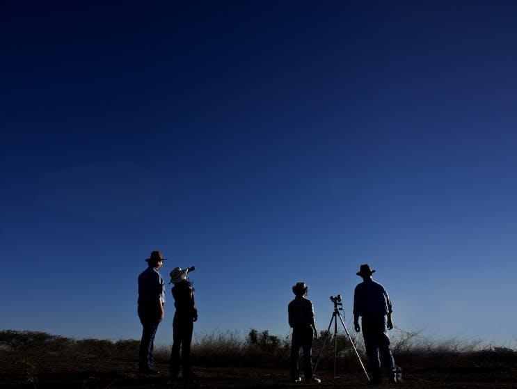 Gazing at the Broken Hill sky at dusk