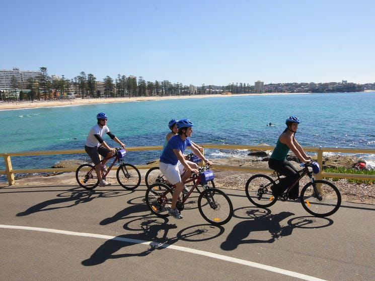 Ride along Manly Beach