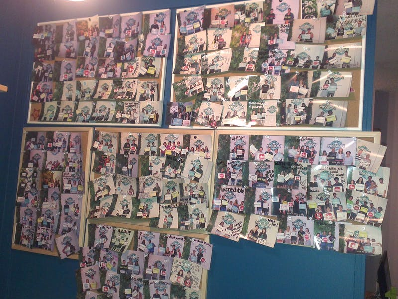 Photos wall