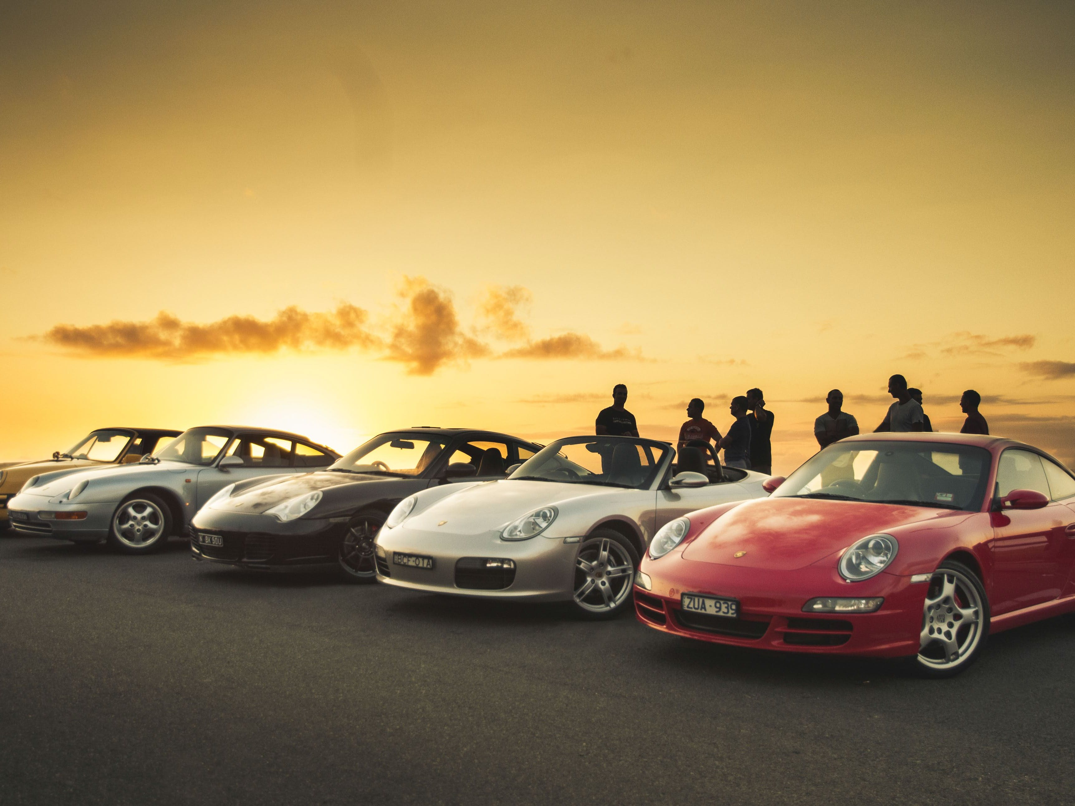 Sunrise over our Porsche Fleet