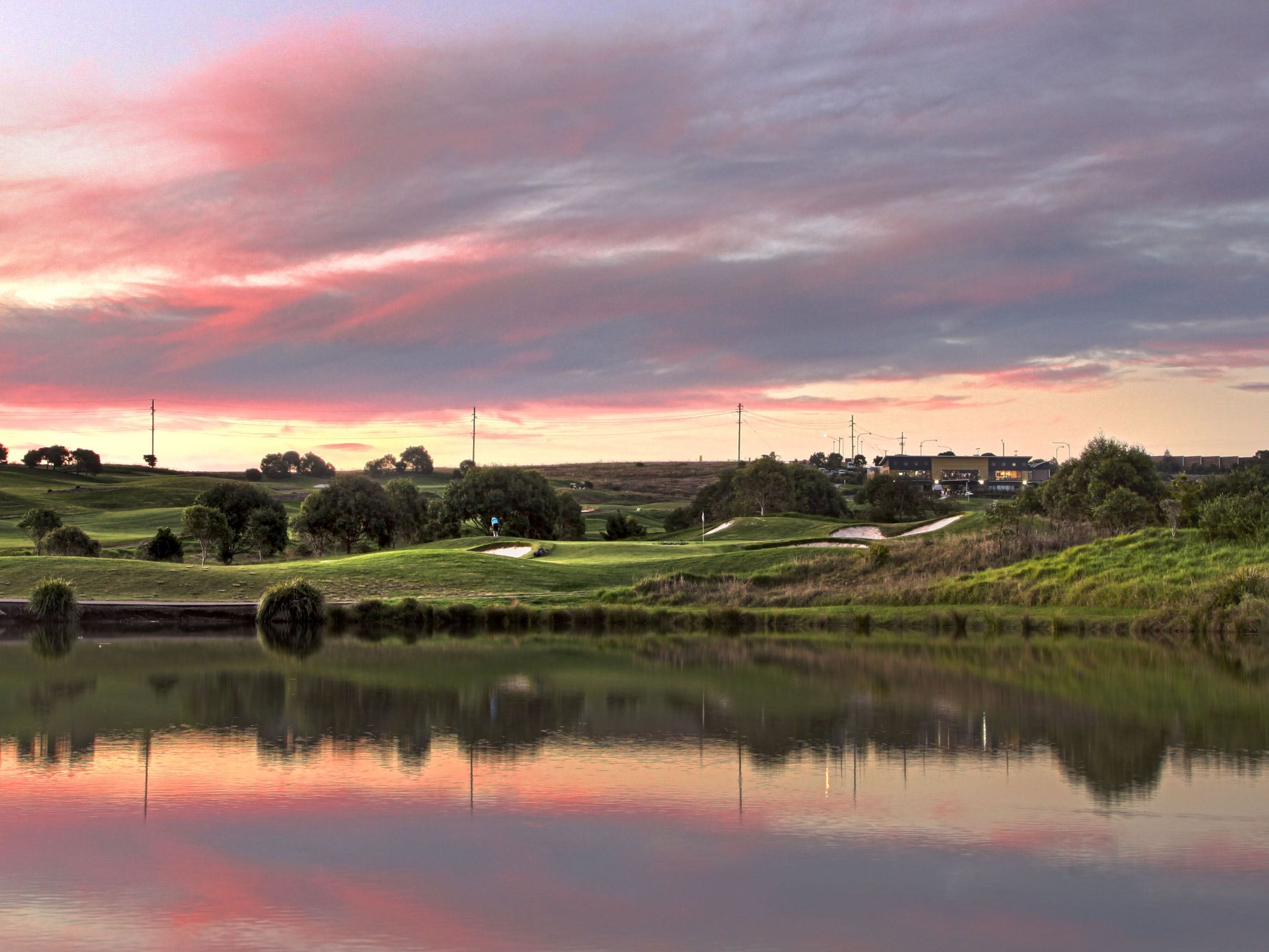 Sunset at the Links