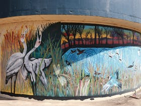 Water Tanks Celebration Mural