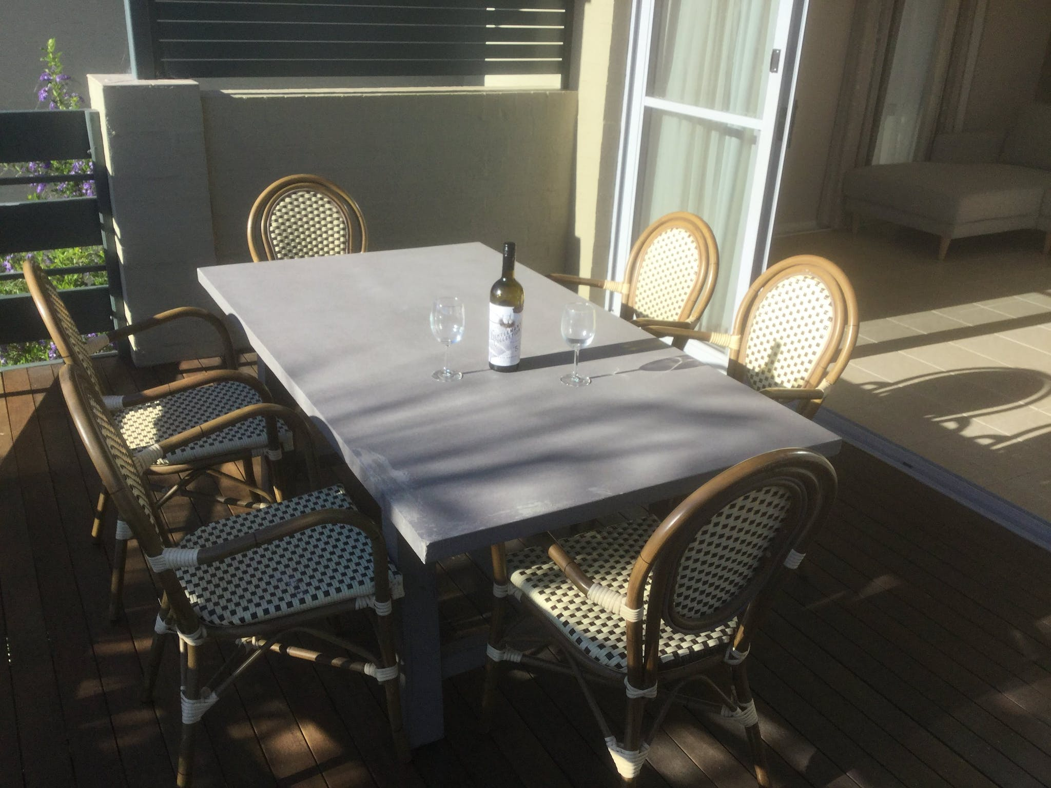 Veranda tables chairs BBQ