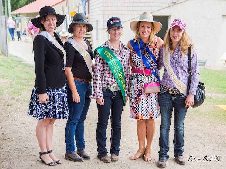 Tenterfield Showgirls at the Tenterfield Show