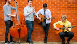 Image of the event 'The Djangologists – Gypsy Jazz in the Convent Garden, Hunter Valley'
