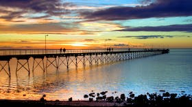 Ceduna Jetty at sunset