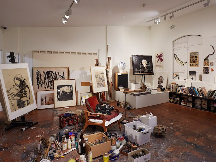 Portraits at the Brett Whiteley Studio, Sydney