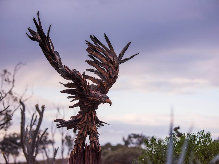 Sculptures in the Garden Eagle by Chris Anderson
