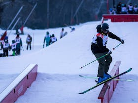 Thredbo Snow Series - Friday Flat Night Rail Jam