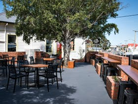 View of the exterior courtyard and seating