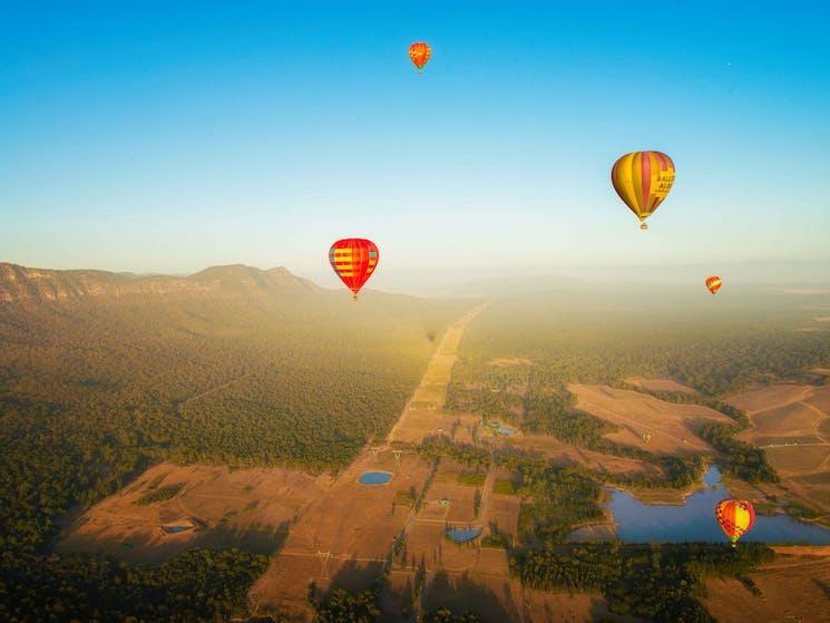 Flights over the Hunter Valley
