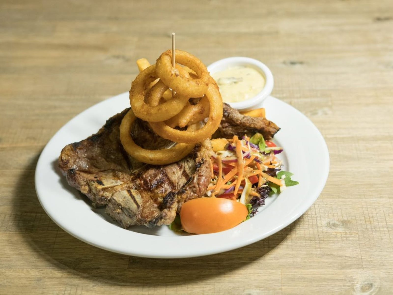 Enjoy a locally produced prime beef steak.  All beef supplied by Rangeland Quality Meats.