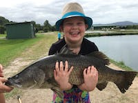 Barramundi fishing is great for kids too