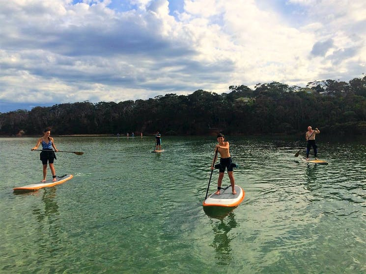 SUP Stand Up Paddle in Merimbula Family Activity