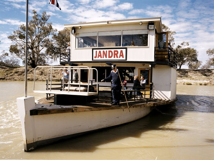 The Jandra Paddlesteamer on the Darling River at Bourke