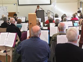 Canberra Recorder Orchestra in rehearsal