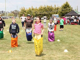 Cobden sack race
