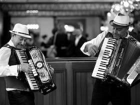 Friday Night Wine Down for lovers of food & wine!! Featuring The Soprano's (The Accordian Boys)