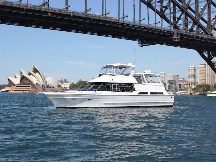 A 52 foot motor yacht