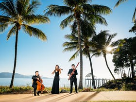 Visiting musicians perform along The Strand in Townsville