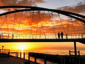 Landmark Bridge is located at the Frankston waterfront with sunset views