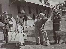 Last troops through the staging camp, 1946.