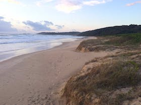 Looking south to the Angourie headlands. Dump Beach, Yamba.