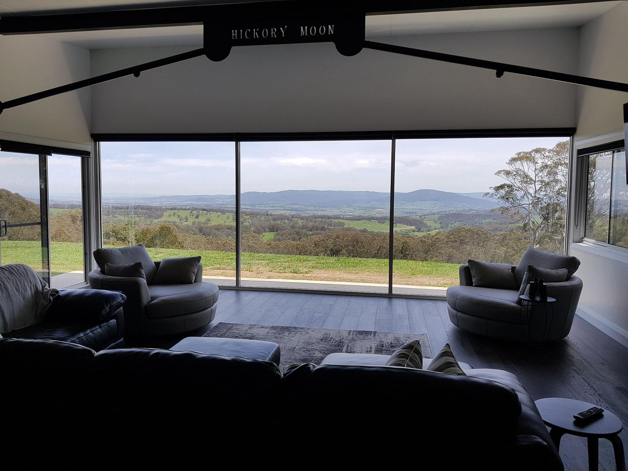 Luxurious leather lounge and snuggle chairs. Spectacular views.