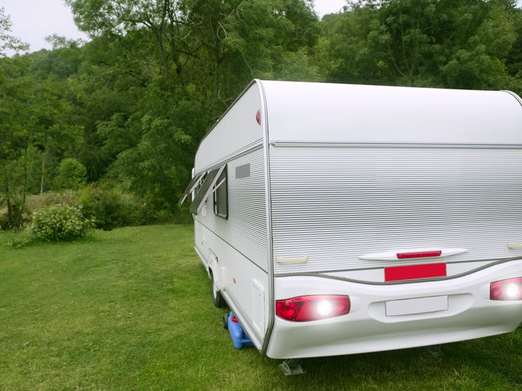 Image of a caravan in a bush setting