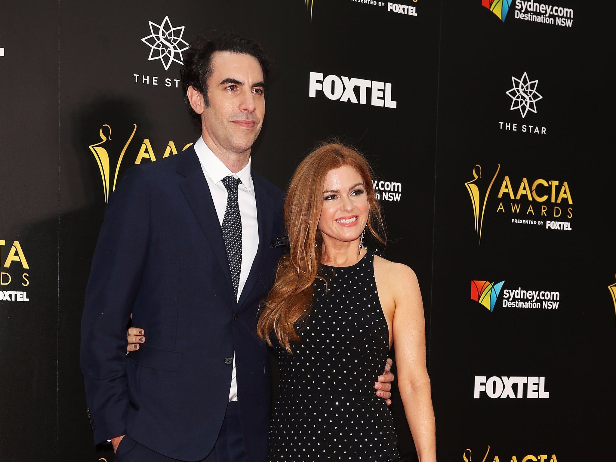 Sacha Baron Cohen and Isla Fisher at the 6th AACTA Awards