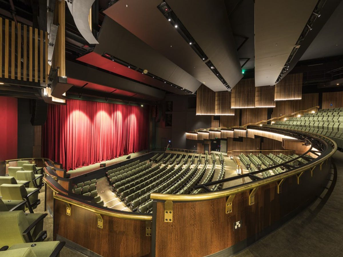 Proscenium arch theatre, view from balcony boxes