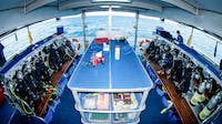 Spacious dive deck on SpoilSport