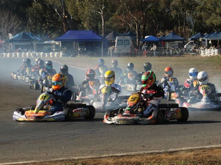 Go Karts at Grenfell Race Track