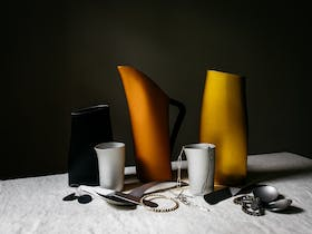water jugs, cups and jewellery