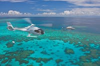 helicopter over reef