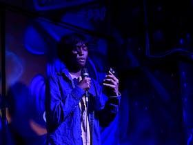 Performer at Talking Blue