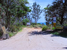 The most impressively signposted 4WD track in the Clarence Valley. Shark Bay, Iluka.