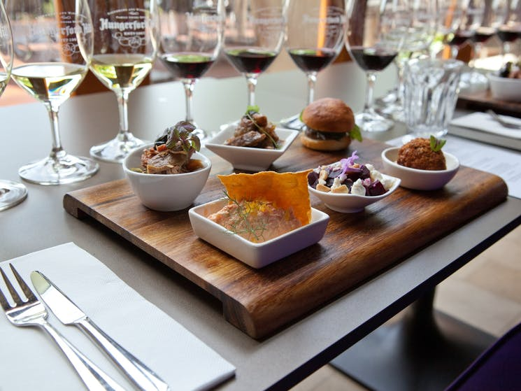 The Epic Experience - a mini-degustation of wines matched to tasting bites from Muse Restaurant