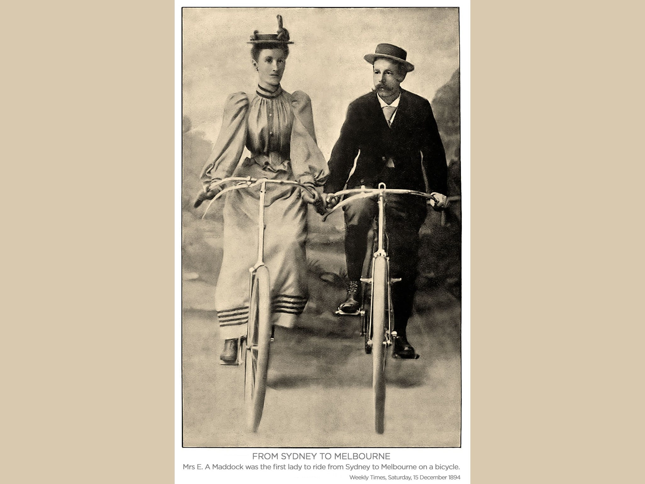 Image for Sarah Maddock Sydney to Melbourne 125 Year Commemorative Cycling Tour