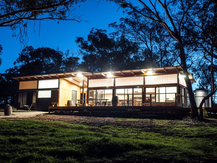 The Strawhouse Pavilion is cellar door and accommodation.